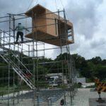 杭式基礎の実験住宅