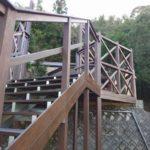 鴨川の社屋階段